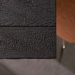TISCHPLATTE BURNED WOOD - schwarz-asche-optik-lackiert-alpi-furnier