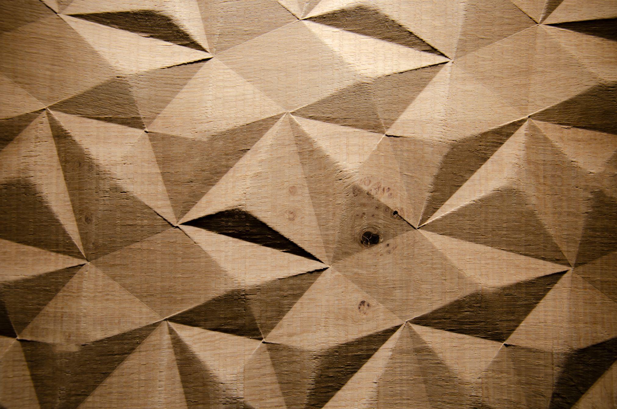 2536 - DIAMOND - Knob Oak - Real wood veneer